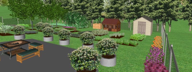 Garden Design - Perspective View